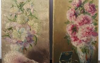 Konrad Filip (1874. - ?), 2x ulje na platnu (40x100cm i 43x100cm)