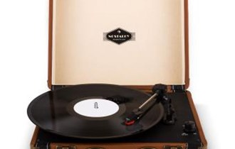 Novi retro gramofon Jerry Lee Retro LP USB smeđi