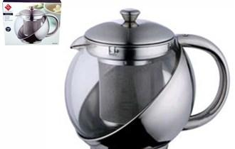 Čajnik sa filtrom staklo - inox
