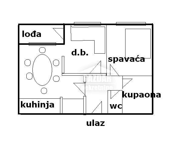 ŠPANSKO -2-s, 1.kat, 49.99m2, kompletno namješten