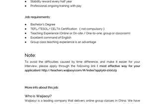 Home Based Teaching Position Location: Telecommuting (Online)