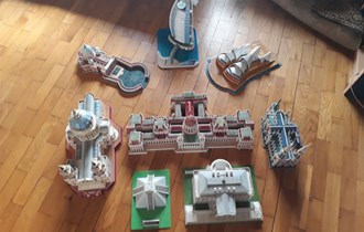 3D puzzle razni gradovi