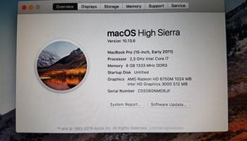 MacBook Pro, Early 2011, 15-inch