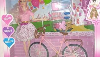 Barbie lutka sa biciklom, ljetnim haljinama i priborom za uljepšavanje DOSTUPNO ODMAH!!!