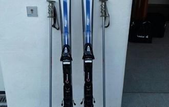 Skije Fischer DRX 100 + ski štapovi + Tyrolia T6 full diagonal vezovi
