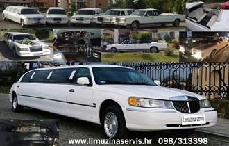 Limuzina 10 metara i 8 metara kabriolet bijele boje za vjenjčanja iznajmljujem