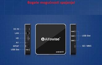 Alfawise A8 Android 8.1 TV Box 2gb ram, 16gb rom. NOVO!!!