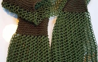 Unikatni pleteni šal - ručni rad - NOVO