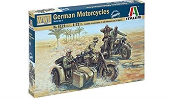 Italeri 510006121 1: 72 WWII German Motorcycles - vojnici