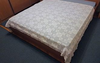 Končani kukičani prekrivač, bijeli, 240x175