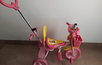 Dječji tricikl-guralica s muzikom, malo korišten u odličnom stanju, BJELOVAR
