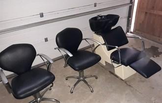 Hidraulički stolci i glavoper za firzerski salon u ODLIČNOM STANJU !