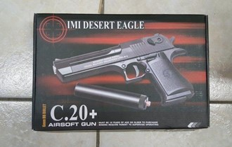 Airsoft gun Desert Eagle C. 20 + Prigušivač Pištolj