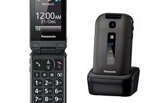 Panasonic preklopni mobitel KX-TU329,stolni punjac,velike tipke
