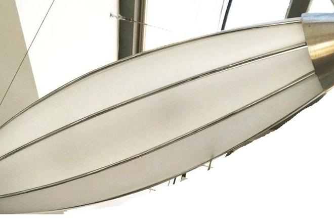 "Lampa dizajnerska talijanska, ""Zeppelin"" by F.Fabbiani, visilica, retro Art deco stila, -60% !!"