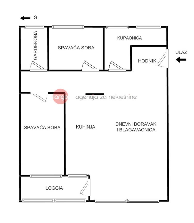 CENTAR (Šubićeva) - trosobni stan, renoviran, namješten - 89.70 m2