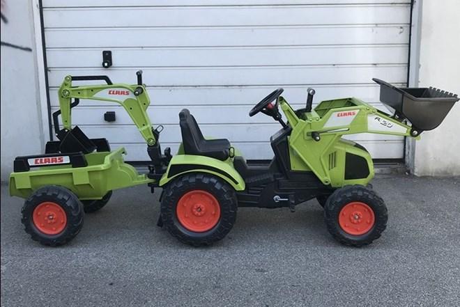 Traktor/Bager s prikolicom za djecu- Falk Claas Axos 330