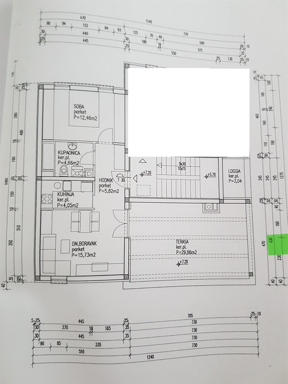 Stenjevec Malešnica stan 44m2 + terasa 28m2