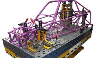 Stol za zavarivanje 2000x1000x200 mm, 3D, Nitrirani, D28 mm, s opremom