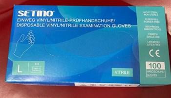 Zaštitne rukavice od VINYL NITRILA - VITRIL (plave) ** R1 **