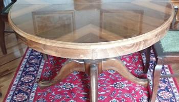 Stol drveni, okrugli, 110 cm - 160 cm, masivni