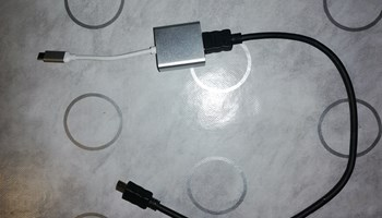 Rolline USB 3.1 + HDMI kabel (50cm)
