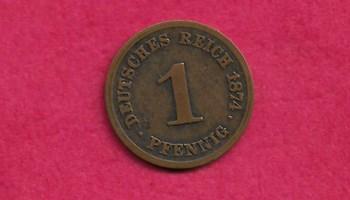 1 Pfennig - Wilhelm I 1874 C