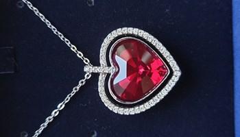 Swarovski ogrlica srce