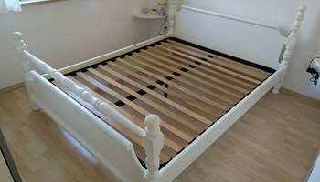 Krevet bijeli 160x200 + podnica