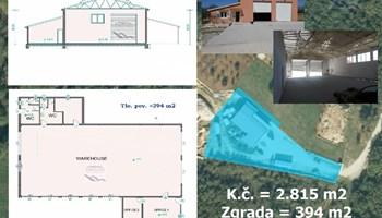 Poslovna zgr. 394 m2 + zemljište 2.421 m2.