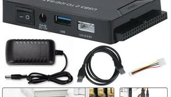 USB3.0 to IDE/SATA 2.5/3.5 inches SSD Hard Drive Konverter