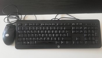 Tipkovnica HP KU-1060 + miš Logitech RX 250