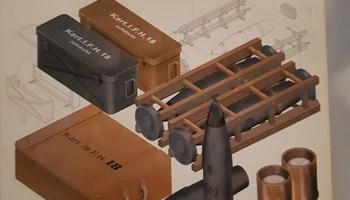 Maketa municija - streljivo i čahure za 105 mm njemačku haubicu 1/35 1:35