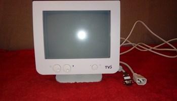 """Monitor CRT , za PC,kompjutor,kasu,9\""""(inča),novi,nikad korišten,s kablovima!!!"""