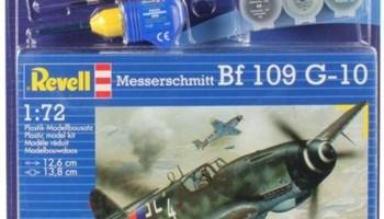 Maketa avion Messerschmitt Bf 109 G-10 Set (ljepilo, boje, kist)