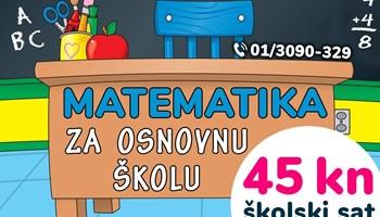 45 kn/šk sat - Instrukcije iz matematike za OSNOVNU školu
