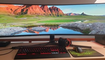 """49\"""" Curved HDR QLED Gaming Monitor Samsung"""