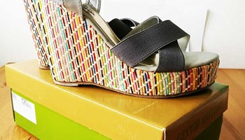 Sandale platforme s elastičnim trakama