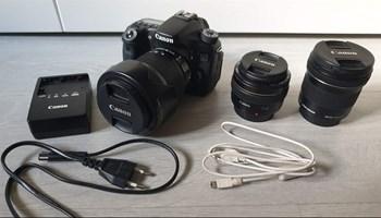 Canon EOS 70D + EFS 18-135mm IMS + 50mm f1.4 + 10-18mm IMS (3 objektivi)