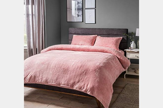 Posteljina set Sleepdown Teddy Fleece 230x220 cm