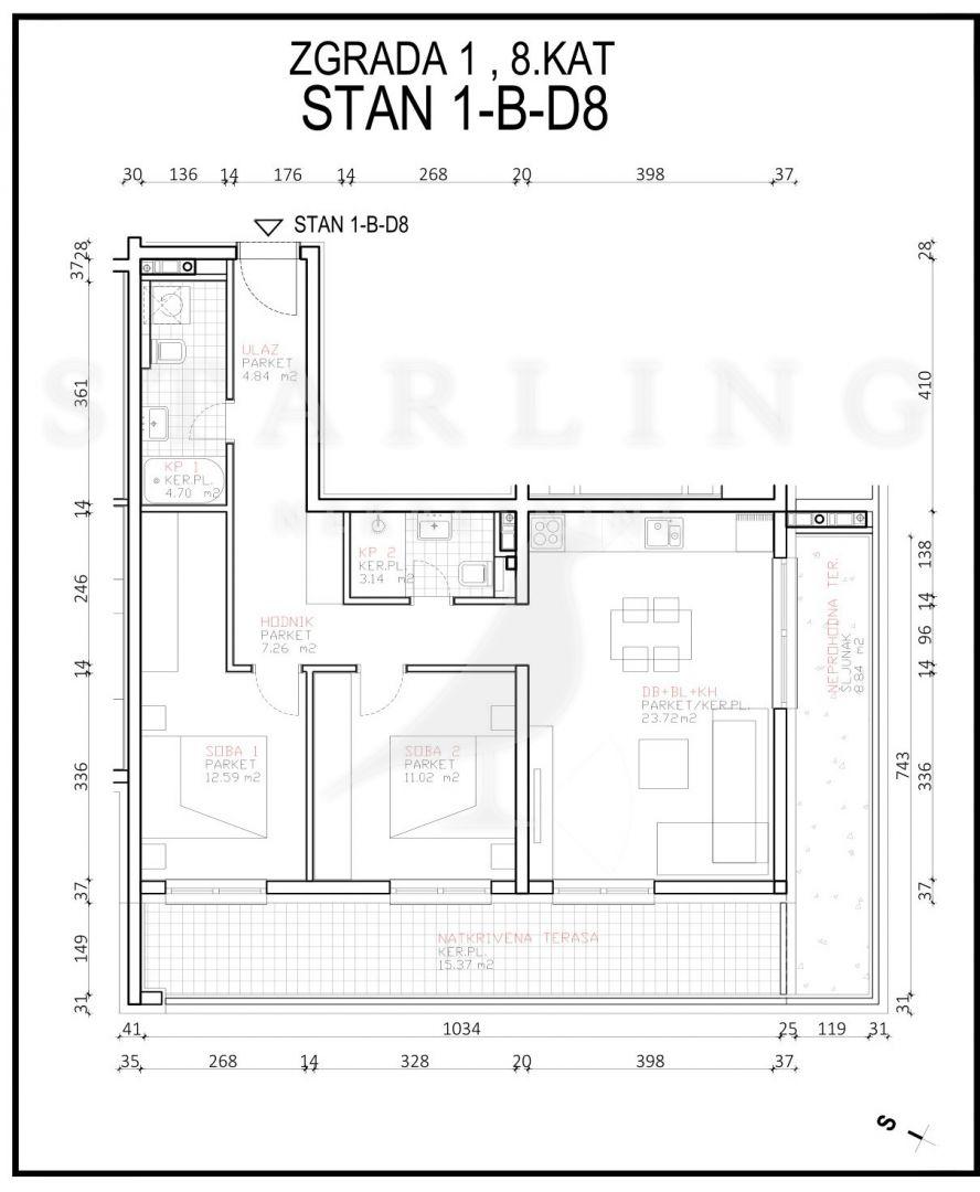 STAN, NOVOGRADNJA, PRODAJA, ZAGREB, ŠPANSKO, 75 m2, 3-soban