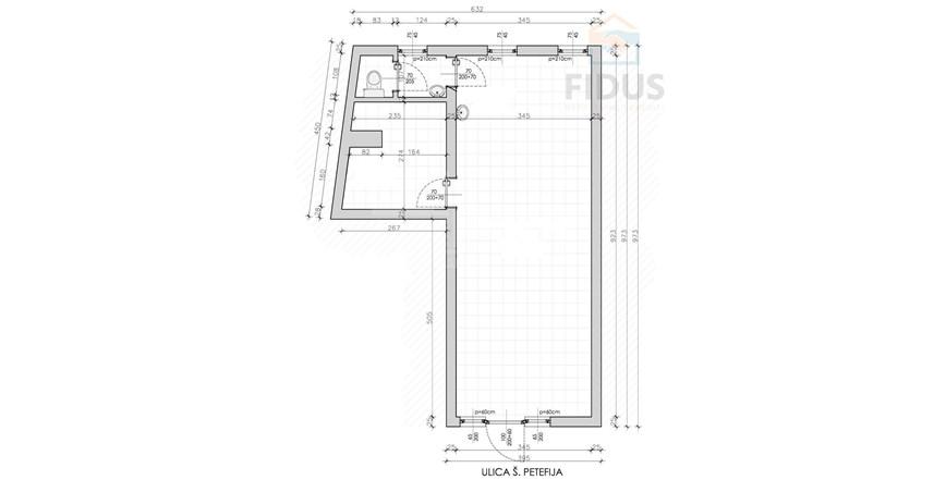 Poslovni prostor 42,88 m2 - Retfala
