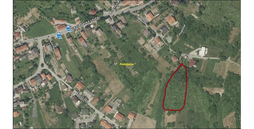 GRAĐEVINSKO ZEMLJIŠTE POVRŠINE 2638 M2-PODSLJEME-MARKUŠEVEC