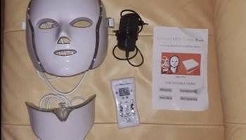 Optička kozmetička maska za lice i vrat | 7 LED za njegu kožu