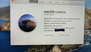 MacBook Pro, 13, 2017, 2,3 GHz Intel Core i5, 8GB, 200GB storage, KAO NOV