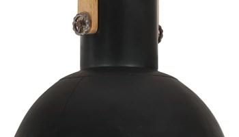 Industrijska viseća svjetiljka 25 W crna okrugla 52 cm E27 - NOVO