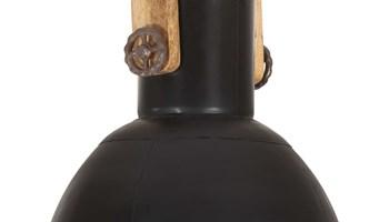 Industrijska viseća svjetiljka 25 W crna okrugla 32 cm E27 - NOVO