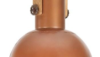 Industrijska viseća svjetiljka 25 W bakrena okrugla 32 cm E27 - NOVO