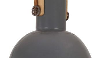 Industrijska viseća svjetiljka 25 W siva okrugla 42 cm E27 - NOVO
