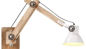 Zidna svjetiljka u industrijskom stilu bijela okrugla E27 - NOVO